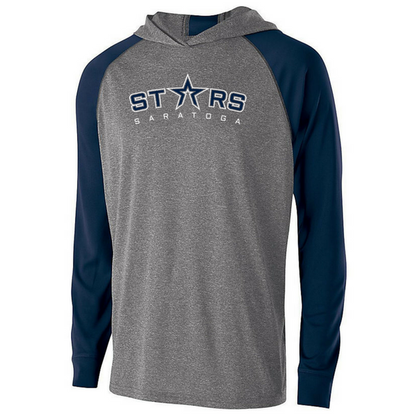 Saratoga Stars Hooded Long Sleeve Performance Shirt- Youth, Ladies & Men's, 2 Colors