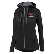 Load image into Gallery viewer, Stillwater Warriors Ladies Full Zip Two-Tone Performance Hoodie- 2 Colors