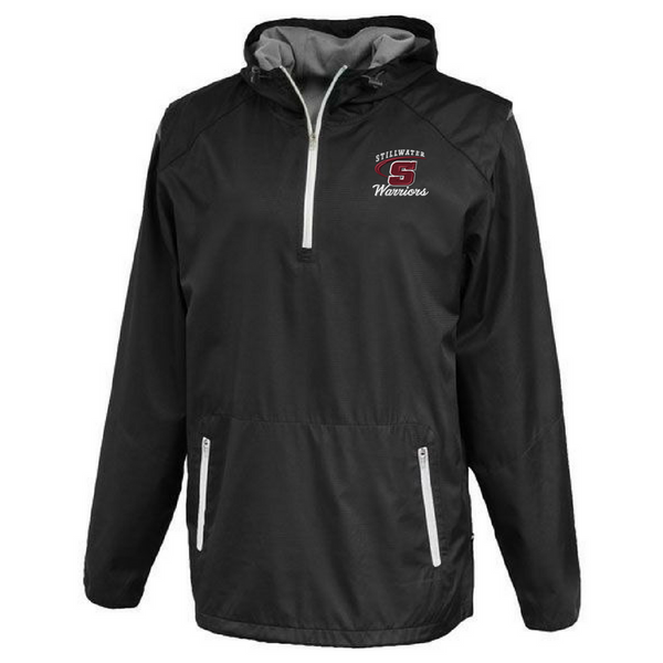 Stillwater Warriors Hooded 1/4 Zip Windbreaker- 2 Colors