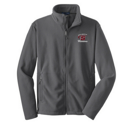 Stillwater Warriors Full Zip Fleece- Youth, Ladies, & Men's, 3 Colors