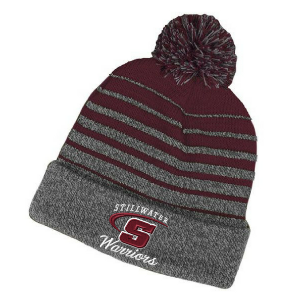 Stillwater Warriors Pom Pom Beanie- 4 Styles