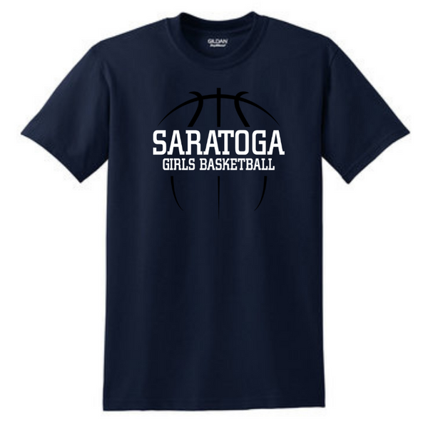 Saratoga Girls Basketball Cotton Tee- Youth & Adult, 3 Colors