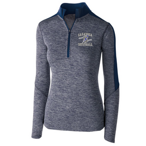 Saratoga Softball Heather Lightweight 1/4 Zip Pullover- Youth, Ladies, & Men's, 3 Colors