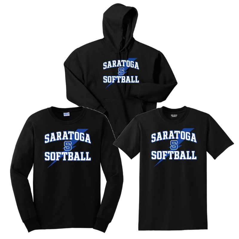 Saratoga Softball Cotton Bundle- Youth & Adult, 3 Colors