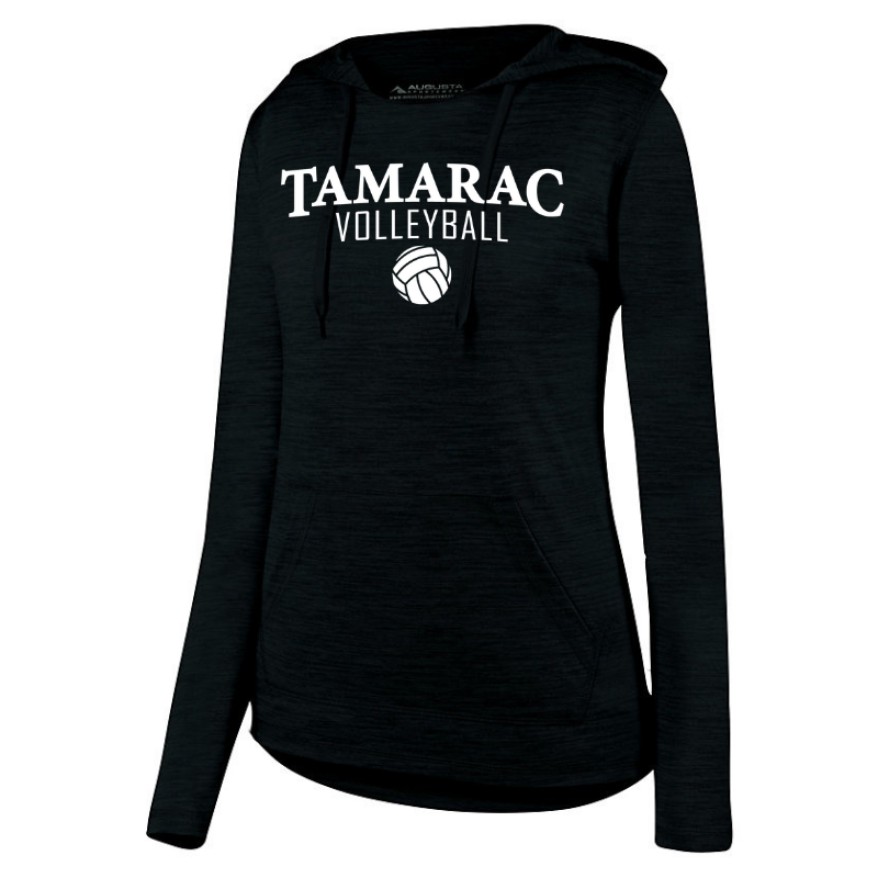 Tamarac Volleyball Long Sleeve Hooded Heather Performance Shirt- Ladies & Men's, 2 Colors