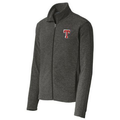 Tamarac Baseball Heathered Full Zip Fleece- Ladies & Men's, 2 Colors