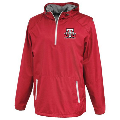 Tamarac Football Hooded 1/4 Zip Windbreaker- 2 Colors