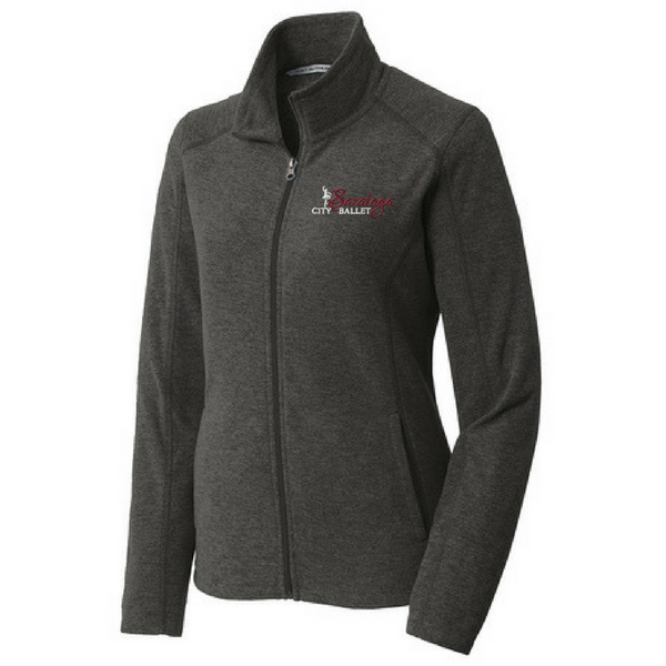 Saratoga Ballet Heathered Full Zip MicroFleece- Ladies & Men's, 3 Colors