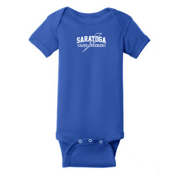 Saratoga Blue Streaks Infant Onesie- 4 Colors