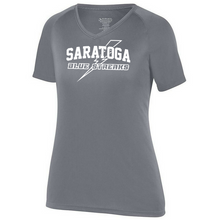 Load image into Gallery viewer, Saratoga Solid Performance Tee- Youth, Ladies, & Men's, 4 Colors
