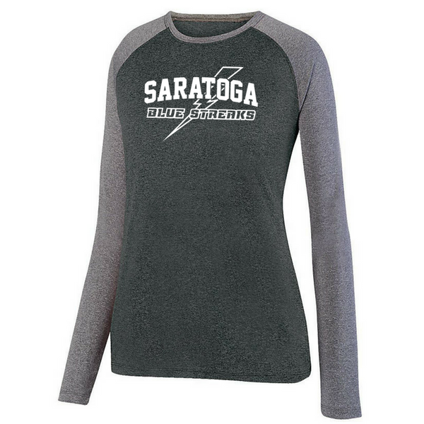 Saratoga Long Sleeve Heathered Colorblock Performance Shirt- Ladies & Men's, 3 Colors