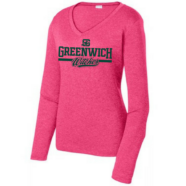 Greenwich Witches Long Sleeve Heathered Performance Shirt