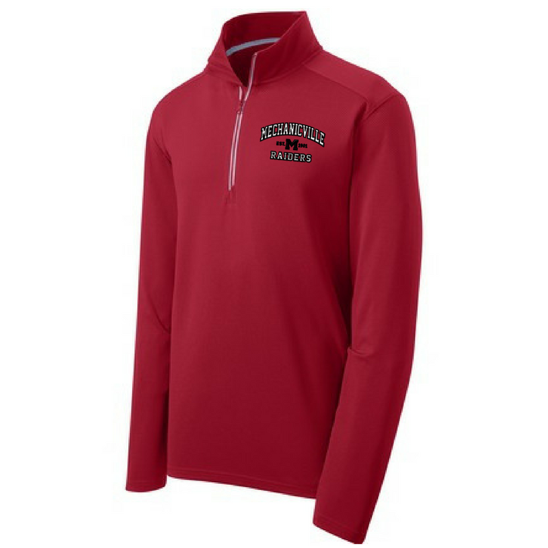 Mechanicville Red Raiders Textured 1/4 Zip Pullover
