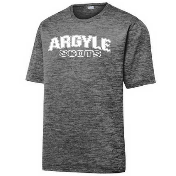 Argyle Scots Electric Heather Performance Tee- Youth, Ladies, & Men's, 2 Colors