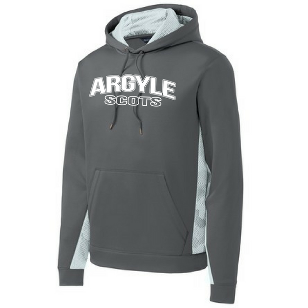 Argyle Scots Camo Colorblock Performance Hoodie- Youth & Adult, 2 Colors