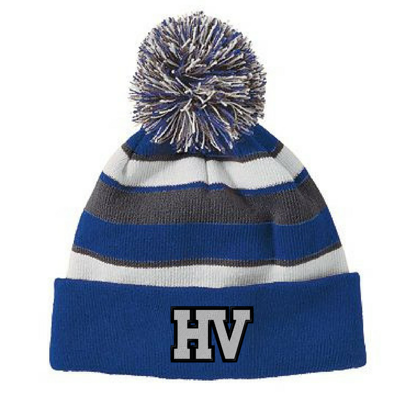 Hoosic Valley Indians Pom Pom Beanie