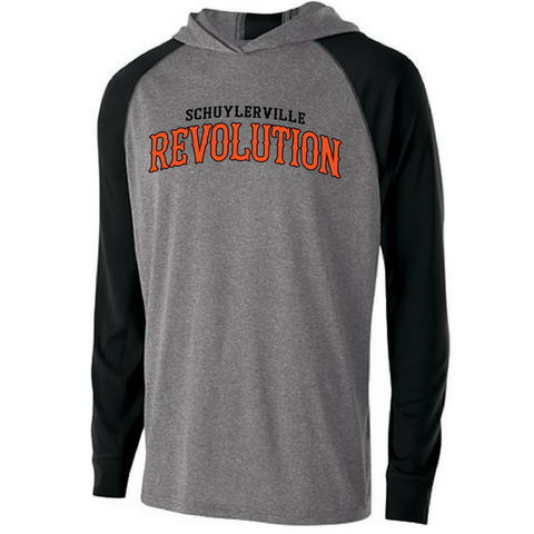 Schuylerville Revolution Hooded Long Sleeve Performance Shirt- Ladies & Men's, 2 Colors