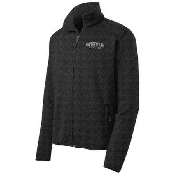 Argyle Scots Sweater Full Zip- Ladies & Men's, 2 Colors