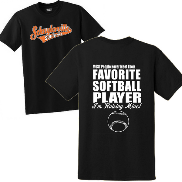 Schuylerville Baseball/Softball Favorite Player Tee- Ladies & Men's