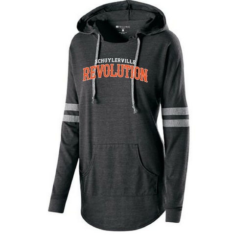 Schuylerville Revolution Ladies Hooded Pullover
