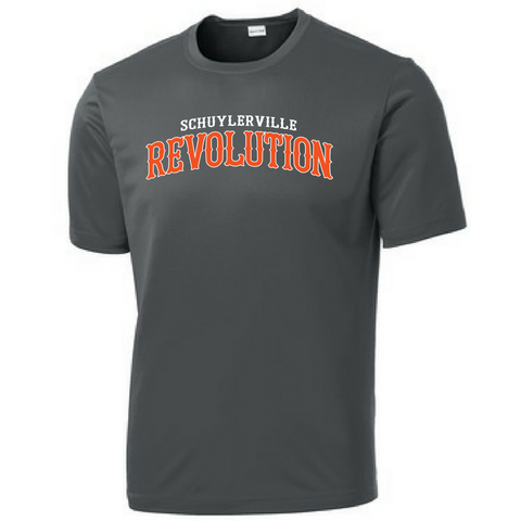 Schuylerville Revolution Short Sleeve Performance Tee- Youth, Ladies, & Men's, 2 Colors