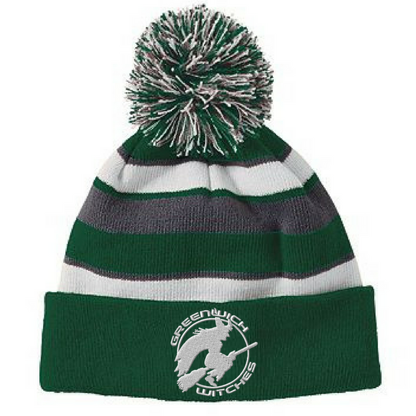 a93bdcf863d Greenwich Witches Winter Beanie with Pom – Val s Sporting Goods