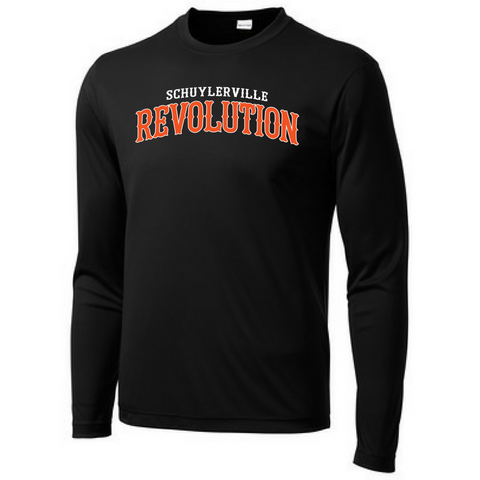 Schuylerville Revolution Long Sleeve Performance Tee- Youth, Ladies, & Men's, 2 Colors