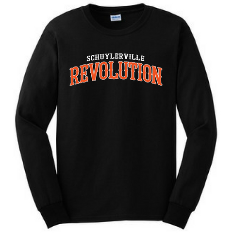 "Schuylerville Revolution ""FIGHT""  Long Sleeve Shirt- Youth & Adult"