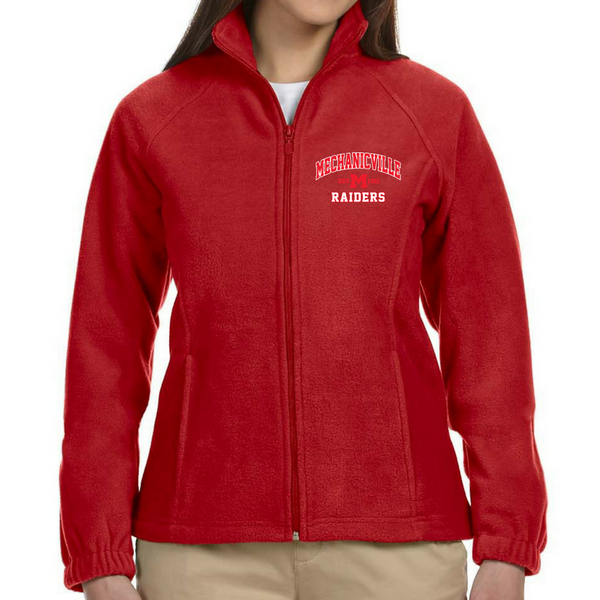 Mechanicville Red Raiders Full Zip Fleece (Men's, Ladies' & Youth)