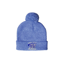 Load image into Gallery viewer, CLEARANCE- Pom Pom Beanie (Choose your school logo!)