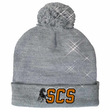 Load image into Gallery viewer, CLEARANCE- Sparkle Beanie (Choose your school logo!)