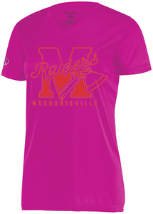 CLEARANCE- Mechanicville Ladies' Performance V-neck Tee