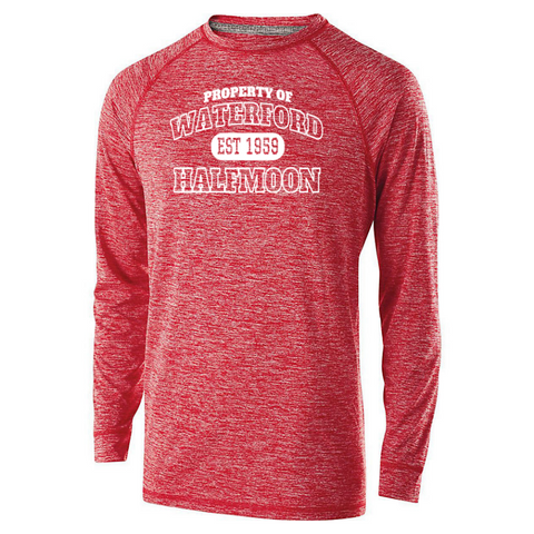Waterford-Halfmoon Fordians Long Sleeve Heathered Performance Shirt- Youth, Ladies, & Men's, 2 Colors