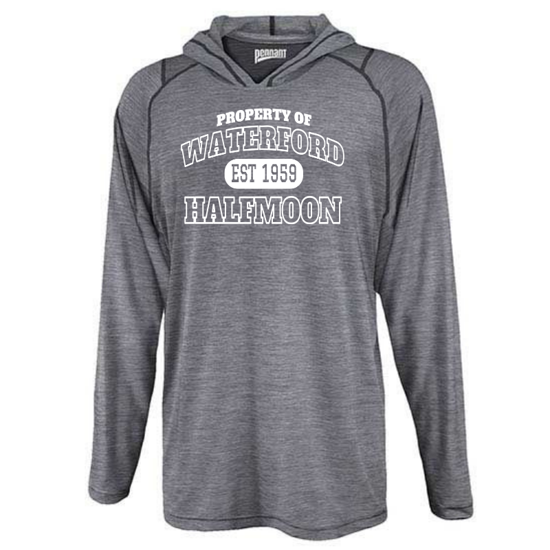 Waterford-Halfmoon Fordians Hooded Heather Long Sleeve Performance Tee- Youth & Adult, 2 Colors
