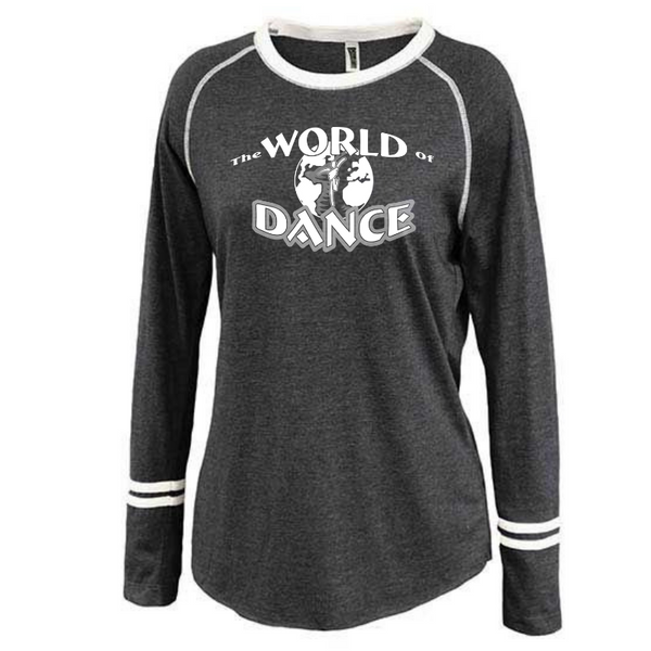 World of Dance Ladies Long Sleeve Fan Tee- 3 Colors