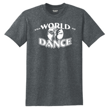 Load image into Gallery viewer, World of Dance Cotton Tee- Youth & Adult, 4 Colors
