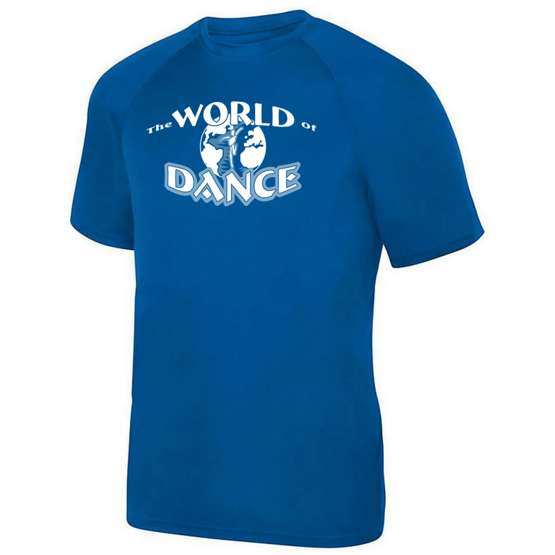 13a5de94c World of Dance Short Sleeve Solid Performance Tee- Youth, Girls, Ladies, ...