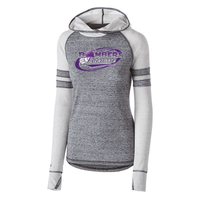 Bombers Lacrosse Hooded Two-Tone Long Sleeve- Girls & Ladies, 2 Colors