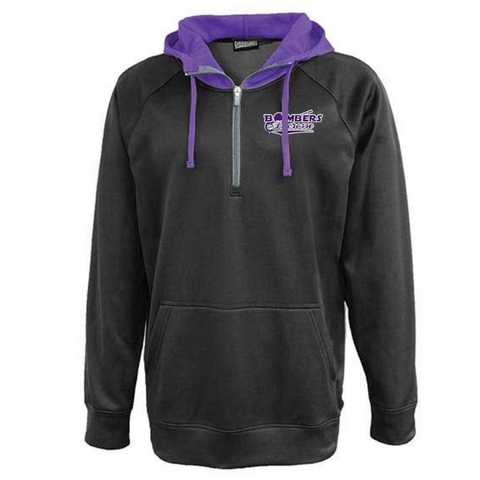 Bombers Lacrosse Two-Tone Hooded Performance 1/4 Zip