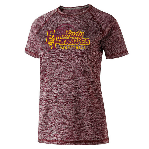 Fonda Girls Basketball Heather Performance Tee- Youth, Ladies, & Men's, 3 Colors