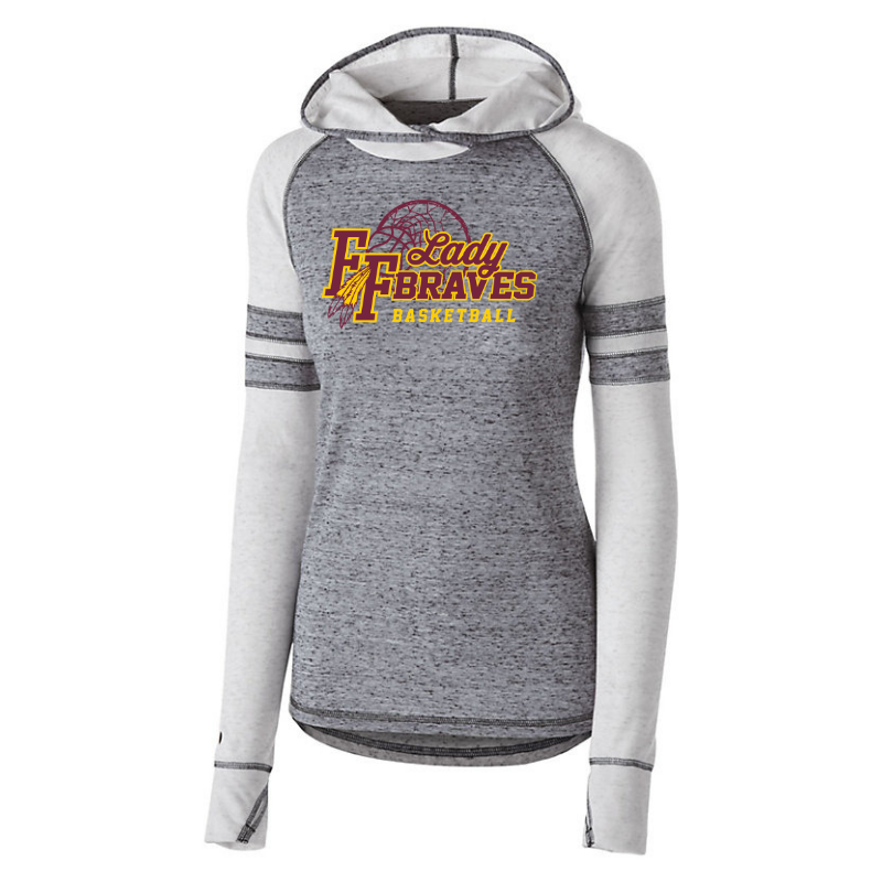 Fonda Girls Basketball Hooded Two-Tone Long Sleeve- Girls & Ladies, 2 Colors
