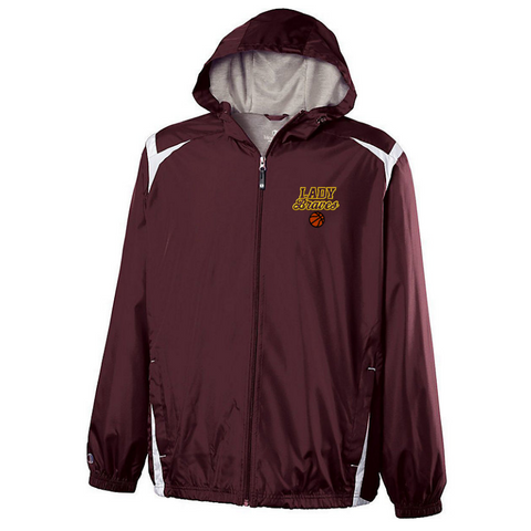 Fonda Girls Basketball Hooded Full Zip Lightweight Jacket- Youth & Adult, 2 Colors