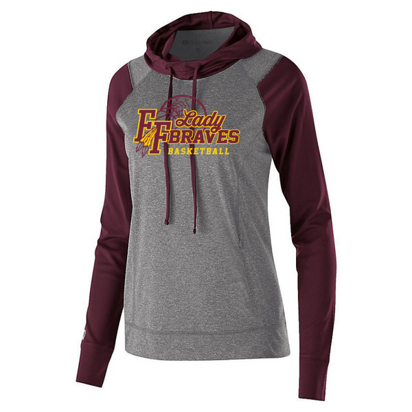 Fonda Girls Basketball Hooded Long Sleeve Performance Shirt- Youth, Ladies & Men's, 2 Colors