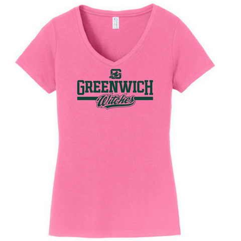 Greenwich Witches Ladies V-Neck Tee