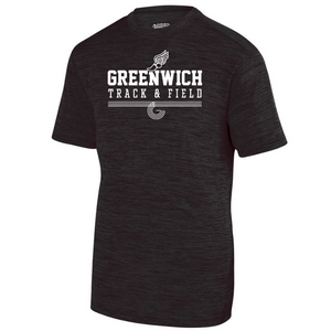 Greenwich Track & Field Tonal Heather Performance Tee- Youth, Ladies & Men's, 2 Colors