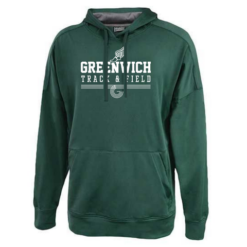 Greenwich Track & Field Lightweight Solid Performance Hoodie- Youth & Adult, 2 Colors