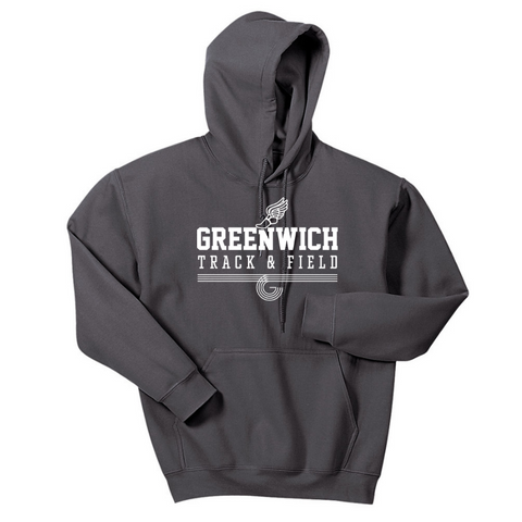 Greenwich Track & Field Hoodie- Youth & Adult, 4 Colors