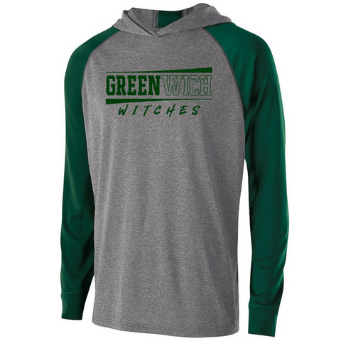 Greenwich Hooded Long Sleeve Performance Shirt- Youth, Ladies & Men's, 2 Colors