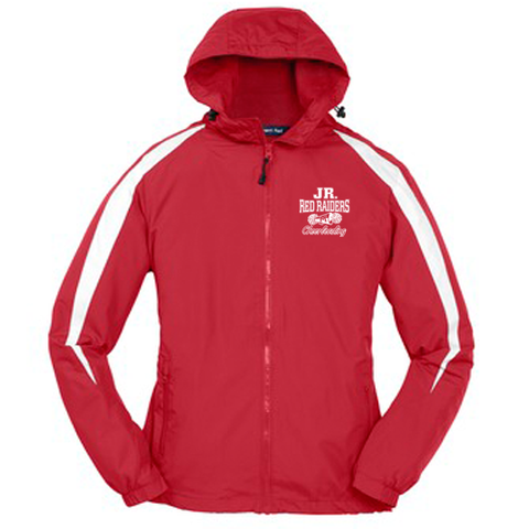 Jr Red Raiders Cheer Hooded Jacket- Youth & Adult, 2 Colors