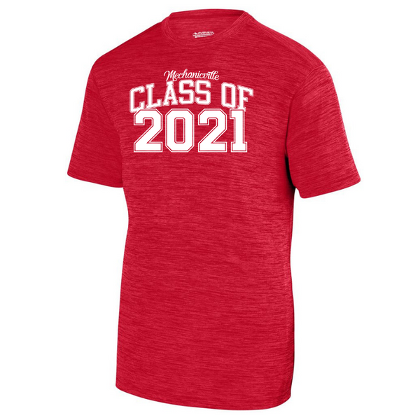 Mechanicville Class of 2021 Tonal Heather Performance Tee- Youth, Ladies & Men's, 2 Colors